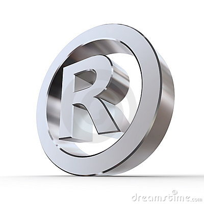 Free Shiny Registered Trademark Symbol Royalty Free Stock Photography - 10876807