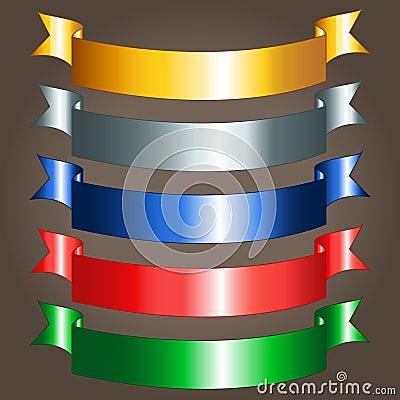 Shiny ribbon banners