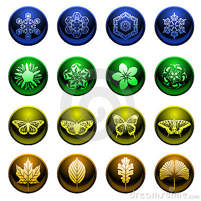 Shiny season icons