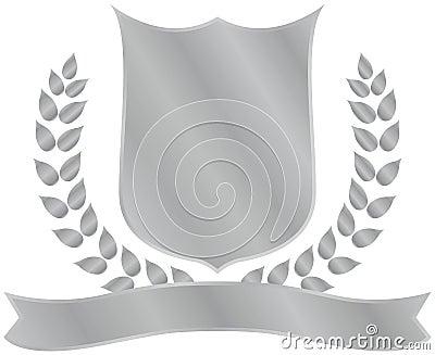 Shiny shield crest