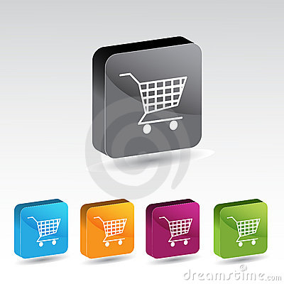 Shiny shopping cart button set