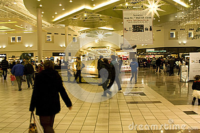 Shiny shopping mall Editorial Stock Image
