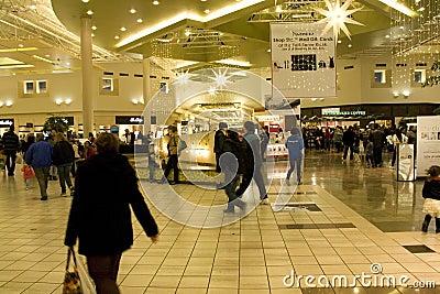 Shiny shopping mall Editorial Stock Image