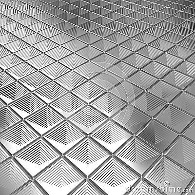 Shiny silver aluminium tile background