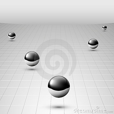 Free Shiny Silver Balls Floating Royalty Free Stock Photography - 22690877