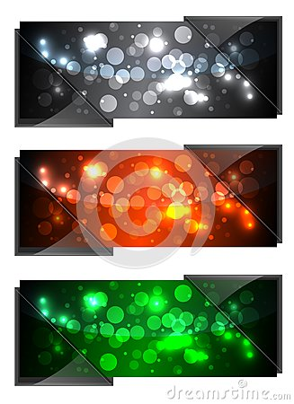 Shiny Sparkling Banners