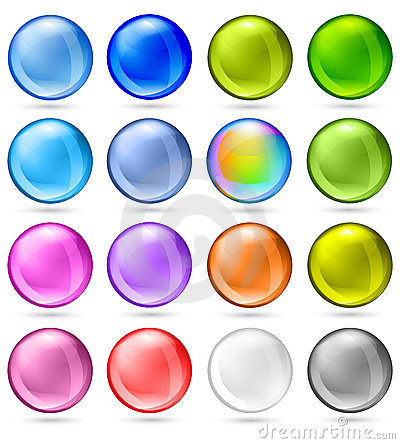 Free Shiny Sphere Set Royalty Free Stock Photos - 10789858