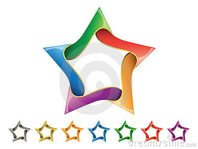 Shiny Star Icon Set