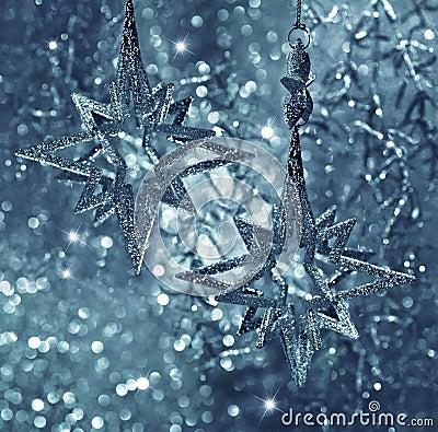 Shiny stars. christmas decoration