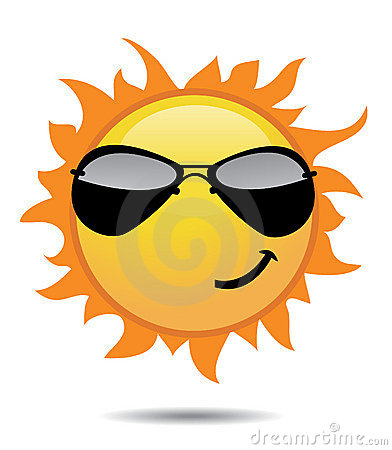 Shiny sun icons