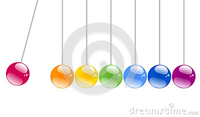 Shiny Swinging balls