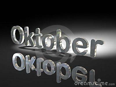 Shiny text design - Oktober