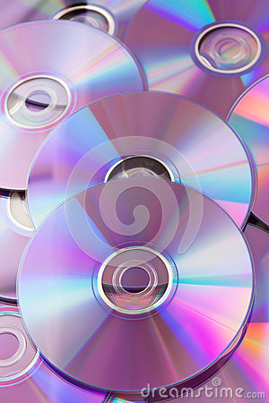 Shiny violet CDs DVDs