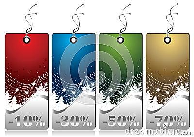 Shiny Winter Sales Tags