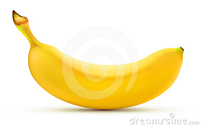 Shiny yellow banana