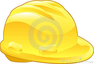 Shiny Yellow Hard Hat Illustration