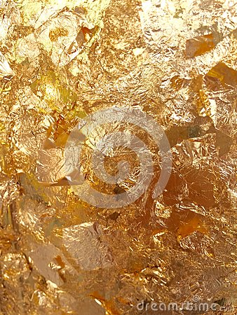 Free Shiny Yellow Leaf Gold Foil Texture Stock Image - 57381861