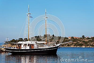 Ship at the Aegean Sea