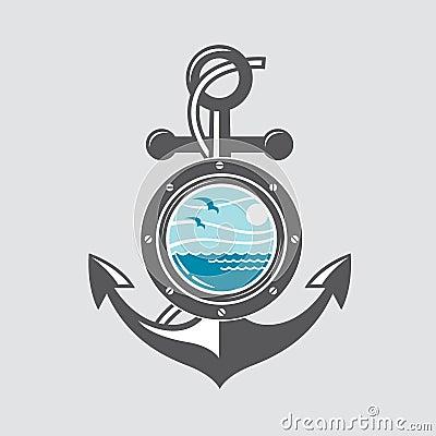 Free Ship Anchor And Porthole Stock Photo - 86260020