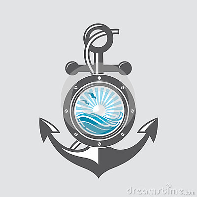 Free Ship Anchor And Porthole Stock Images - 86260074
