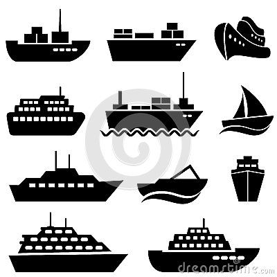 Free Ship And Boat Icons Stock Image - 28113821