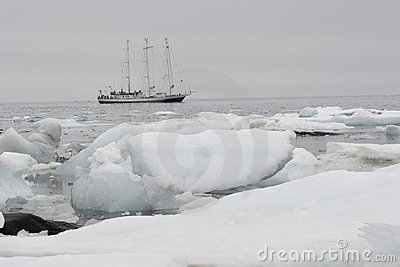 Ship in Arctic ice