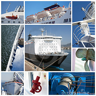 Ship collage