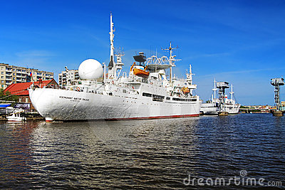 Ship Cosmonaut Viktor Patsayev in Kaliningrad Editorial Stock Photo