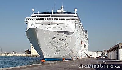 Ship cruise in port