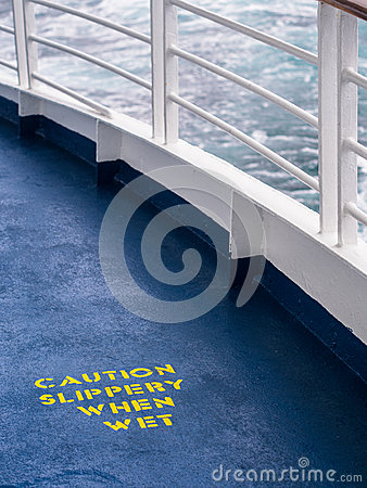 Ship Deck Safety Hazard Warning