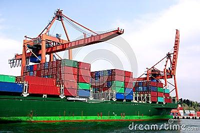Ship in docks