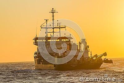 Ship Dredger Colors Ocean Editorial Stock Photo