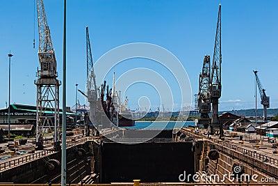 Ship Dry Docks Harbor Editorial Stock Image