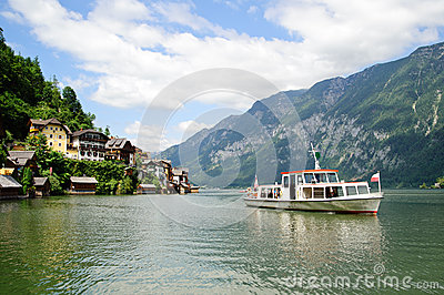 Ship on the Hallstatt Lake