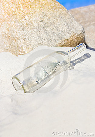 Free Ship In Bottle Stock Image - 19344381