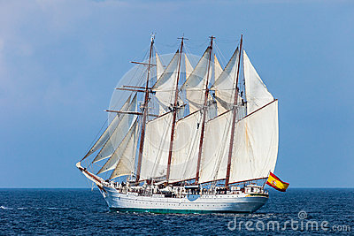 Ship Juan Sebastian de Elcano Editorial Stock Photo