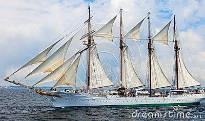 Ship Juan Sebastian de Elcano Editorial Image