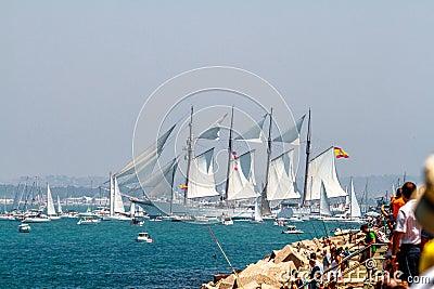 Ship Juan Sebastian de Elcano Editorial Photo