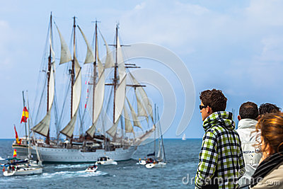 Ship Juan Sebastian de Elcano Editorial Photography