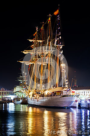 Ship Juan Sebastian Elcano Editorial Photo