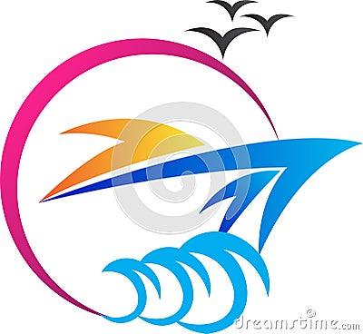 Free Ship Logo Royalty Free Stock Image - 32593166