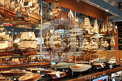 Ship models Editorial Stock Image