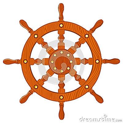Ship navy wheel isolated