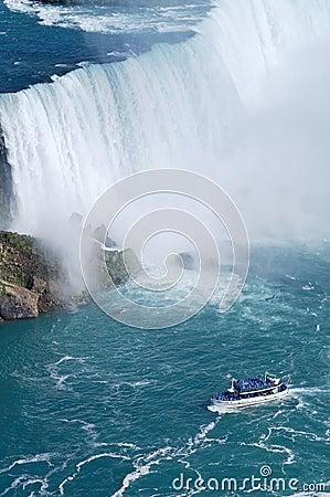Ship near Niagara Fall