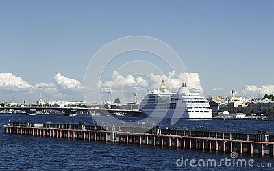 Ship on Neva river