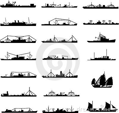 Free Ship Outline Royalty Free Stock Photo - 18364075