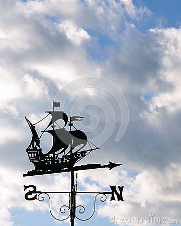 Ship Outline Weather Vane