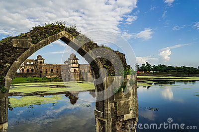 Ship Palace At Mandu India