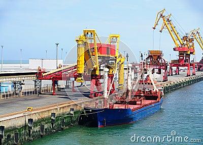 Ship in the port of Calais