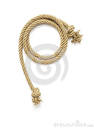 Free Ship Rope Tied With Knot Stock Images - 110971184